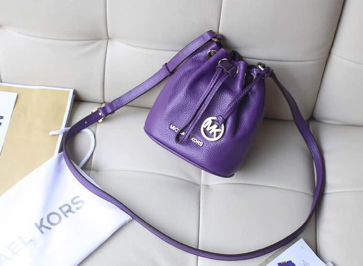 紫色 mk水桶包